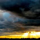 Roaring skies, New York City  by Alberto  DeJesus