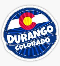 Durango Colorado flag burst Sticker