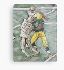 American Football Player Blocking Metal Print