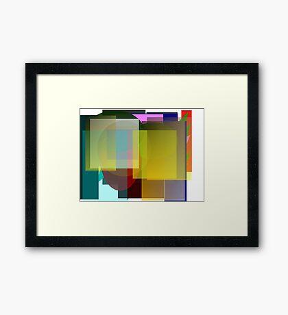 Overlapping Framed Print
