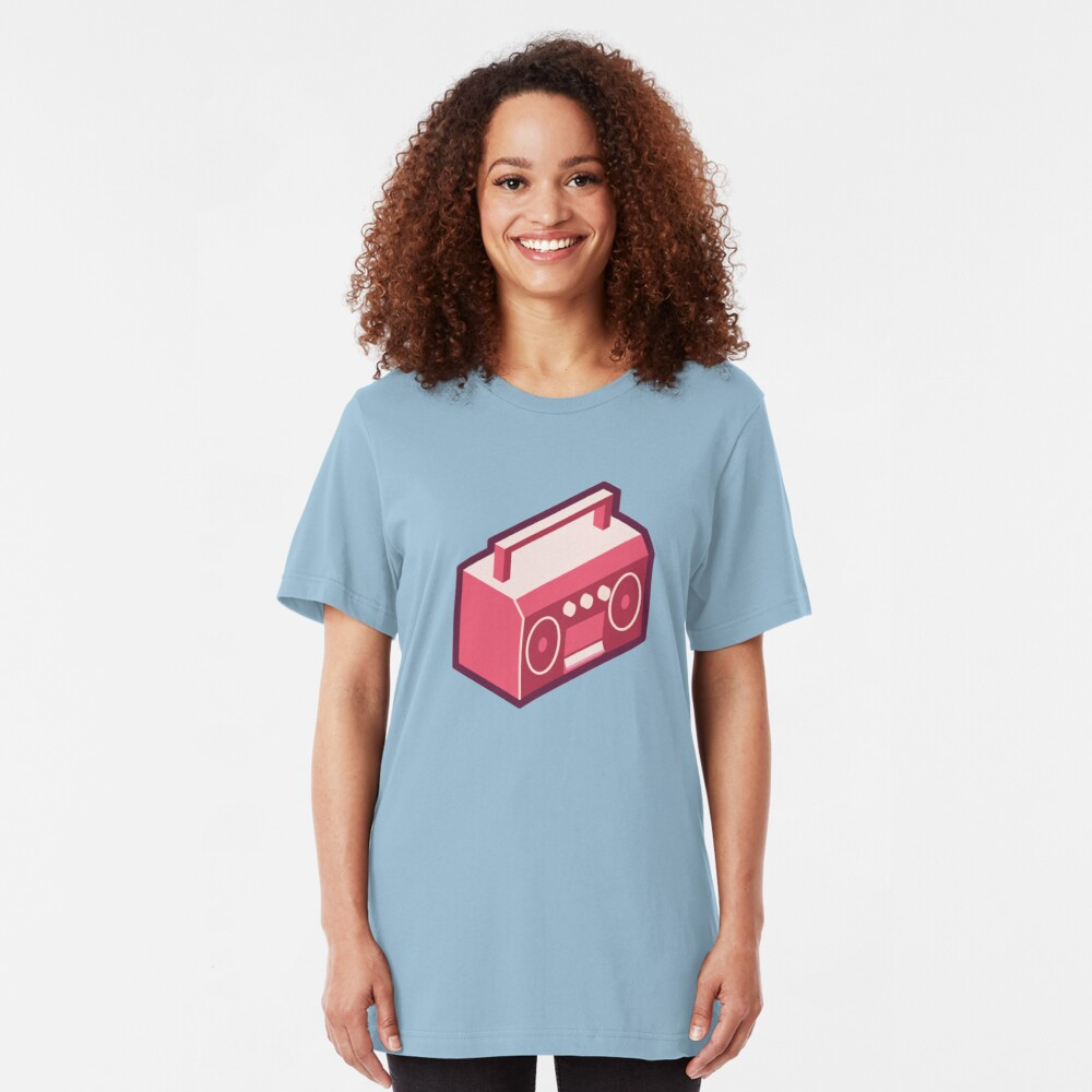 Pink Boom Box Slim Fit T-Shirt