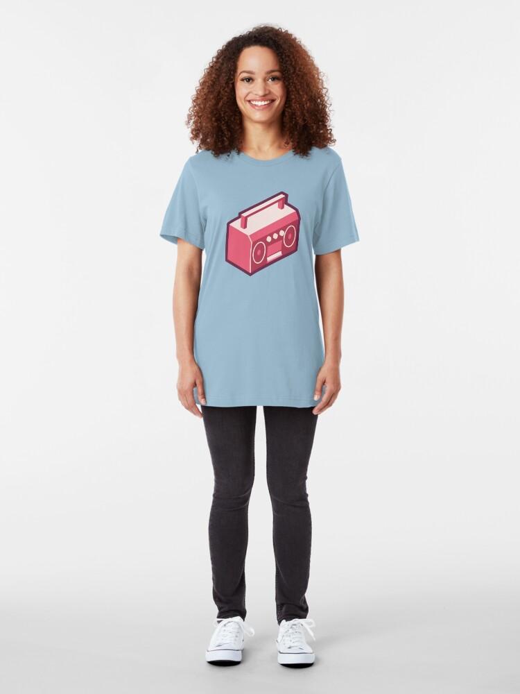Alternate view of Pink Boom Box Slim Fit T-Shirt