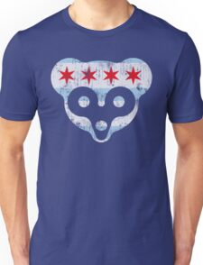 Chicago Flag Cubs Face Unisex T-Shirt