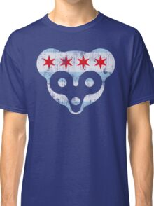 Chicago Flag Cubs Face Classic T-Shirt