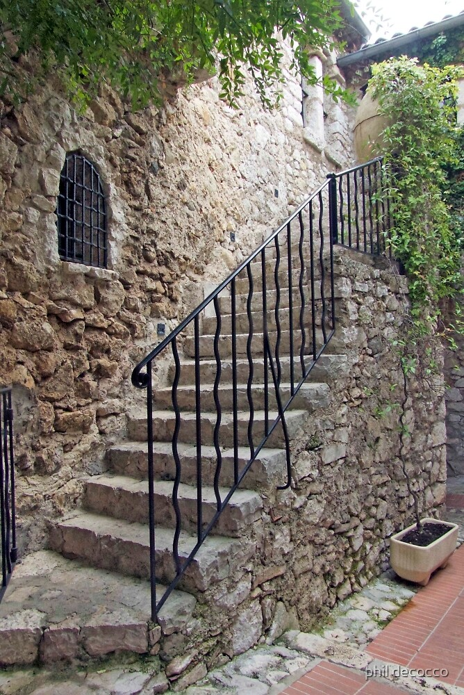 Stone Staircase by phil decocco