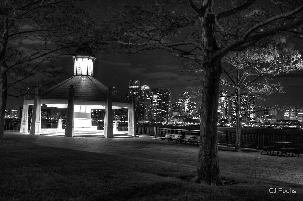 Gazebo at Piers Park, Boston MA by CJ Fuchs