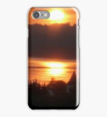 Golden Sunrise Over the Columbia River 4 iPhone Case/Skin