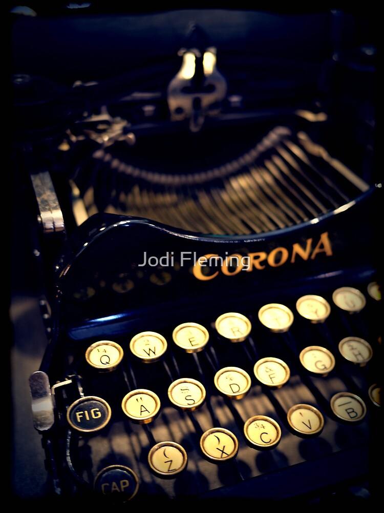 Vintage typewriter by Jodi Fleming
