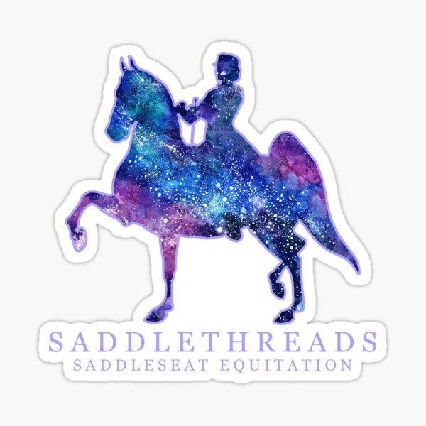 Saddleseat Equitation - Galaxy Sticker
