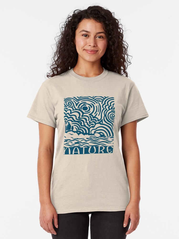 Alternate view of Nature, Swirly sun & clouds Classic T-Shirt