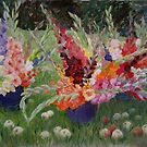 Gladioluses and Apples by Olga Gorbacheva