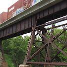 Train Bridge by Donald Salsbury