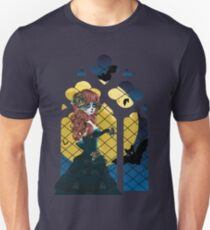 Day of the Dead girl and Gothic window  Unisex T-Shirt