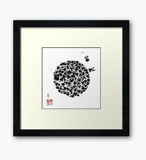 Swarm of Honey Bees Framed Print