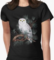 Snowy Women's Fitted T-Shirt