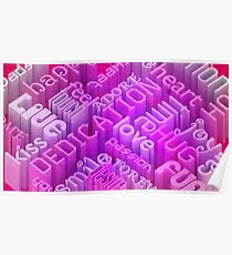 Love words - Abstract message Poster