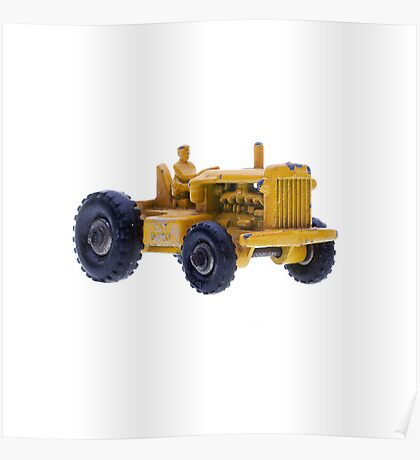Yellow Tractor Poster