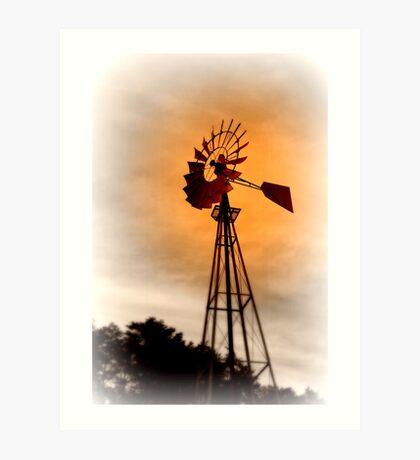 farmer's windmill Art Print