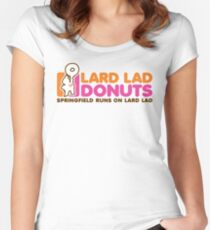 Lard Lad Donuts Women's Fitted Scoop T-Shirt
