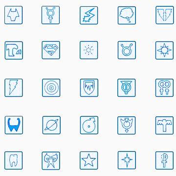 Legion of Superheroes Monitor Board Symbols by razsolo