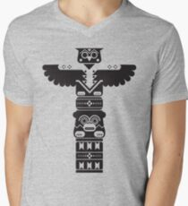 Totem Pole Men's V-Neck T-Shirt