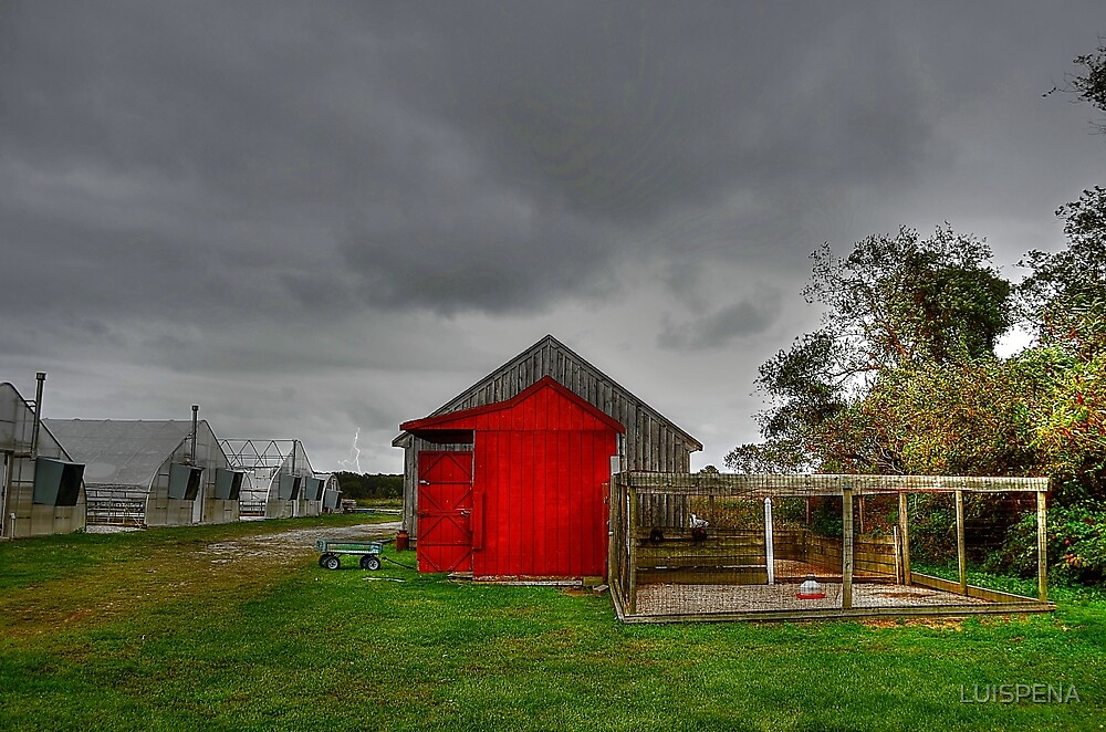 Stormy Farm by LUISPENA