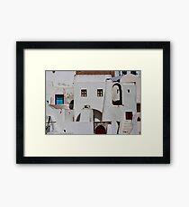 Santorini Streetscape Framed Print