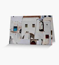 Santorini Streetscape Greeting Card