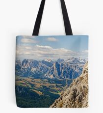 View from Monte Lagazuoi, Dolomite Mountains, Italy Tote Bag