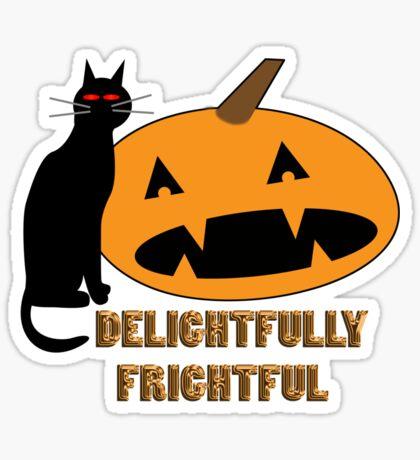 delightfully frightful Sticker