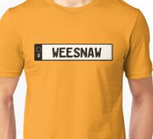 Euro plate simple - weesnaw Unisex T-Shirt