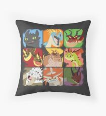.::Noteable Dragons::. Throw Pillow