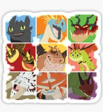 .::Noteable Dragons::. Sticker