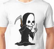 Grim Reaper Giving the Finger Unisex T-Shirt