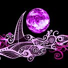 Card - Lunar Sailing - Magenta by MelDavies