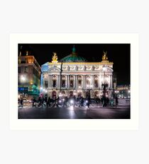 Paris Opera - Palais Garnier at Night Art Print
