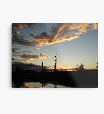 NOVEMBER SUNSET 2011 - ECONFINA CREEK, BAYOU GEORGE, FL Metal Print