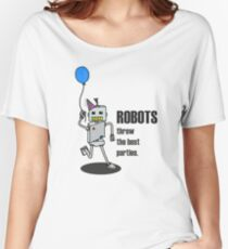 Robot Party Women's Relaxed Fit T-Shirt