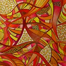 Tshirt - Abstract Tangerine by MelDavies