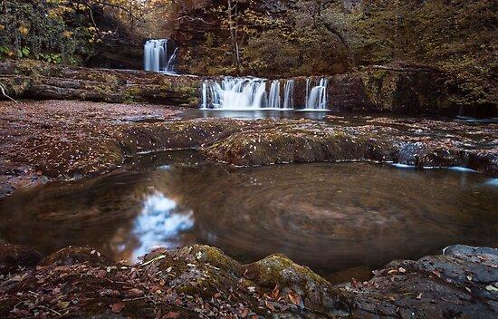 Sgwd Ddwli Isaf waterfalls South Wales by Leighton Collins