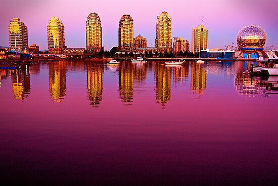 Vancouver Sunset by Erika  Hastings