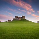 Duffus Castle Dusk by Christopher Thomson