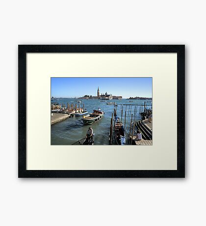 Working the Water Framed Print