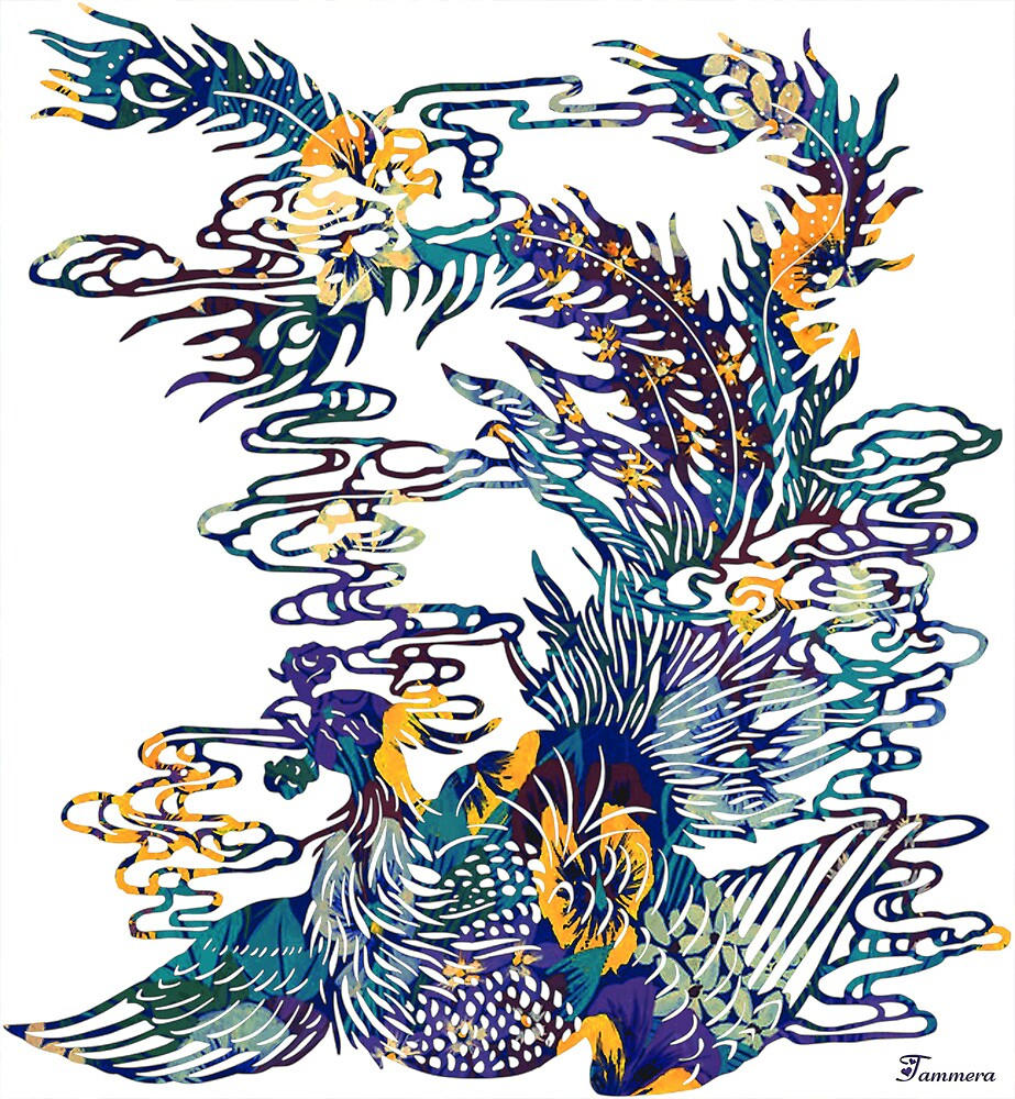 ASIAN PEACOCK by Tammera