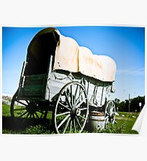 Old West Covered Wagon 03 Poster