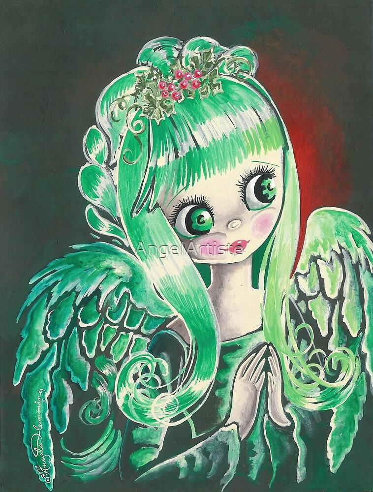 """Holly"" ~ Holiday Angel I by AngelArtiste"
