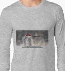 Crane Head Long Sleeve T-Shirt