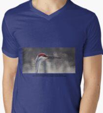 Crane Head Men's V-Neck T-Shirt