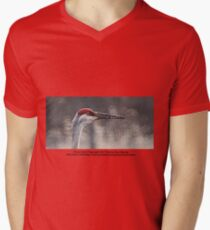 Crane Head Mens V-Neck T-Shirt