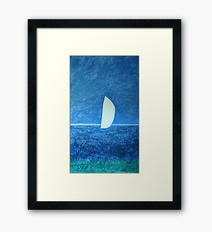 Ghost Sail Framed Print
